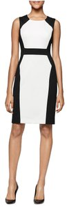 Calvin Klein Work Sheath Color-blocking Dress