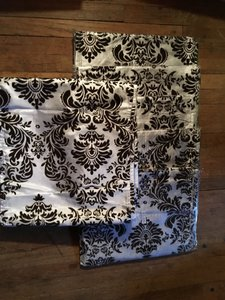 New Brown And White Flocking Table Runners