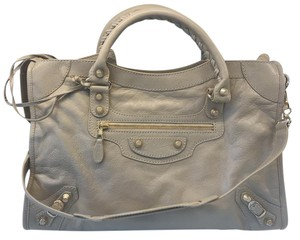 Balenciaga City Arena Giant Classic Satchel in Beige