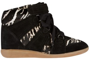 Isabel Marant Black with black and white calf hair Athletic