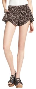 Free People Animal Pint Mini/Short Shorts Brown