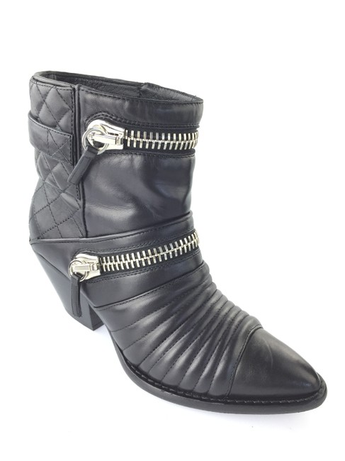 Item - Black Ankle Quilted Boots/Booties Size EU 37.5 (Approx. US 7.5) Regular (M, B)