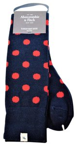 Abercrombie & Fitch Wool Blend Polka Dots Slouchy Boot Socks