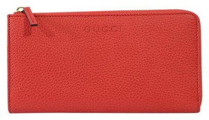 Gucci GUCCI Women's 332747 Leather Zip Around Wallet, Sporting Red