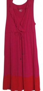 Liz Lange Maternity short dress Pink and Orange Neck Cotton on Tradesy