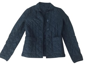 Theory Light Weight Quilted Spring Black Jacket