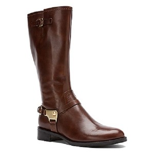 Ecco Women Leather Gold Harnees Sale Clearance Brown Boots