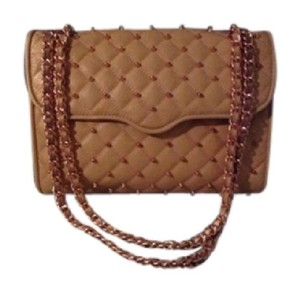 Rebecca Minkoff Studded Rosegold Leather Cross Body Bag