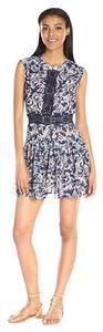 BCBGMAXAZRIA short dress Royal Blue Combo Amyeline Short Sleeve Printed on Tradesy