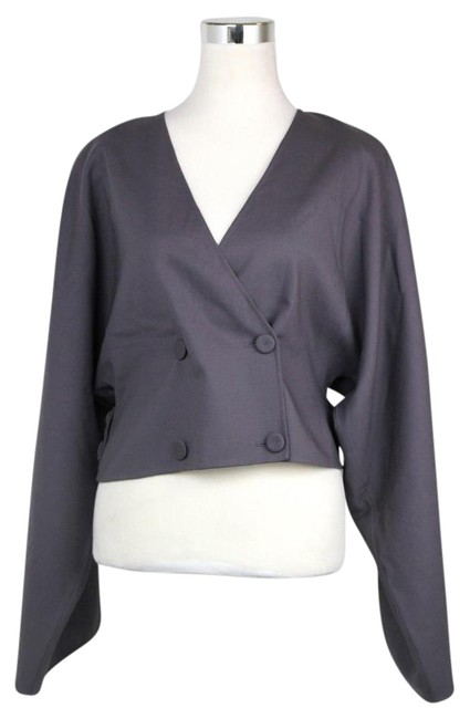 Preload https://img-static.tradesy.com/item/20606116/bottega-veneta-gray-purple-new-cupro-coat-top-it-44-312350-6017-blazer-size-os-one-size-0-1-650-650.jpg