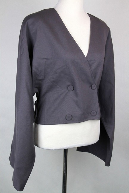 Bottega Veneta Cupro Gray Purple Blazer