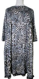 Lisa Nieves short dress Brown/black.beige Stretchy Animal Print Lace Trim Evening Short on Tradesy