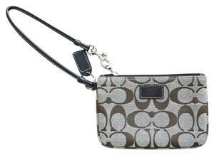 Coach Wristlet in Brown and Beige