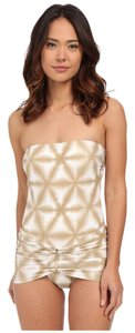 Michael Kors Luna Long Bar Swimdress Swimsuit One-Piece