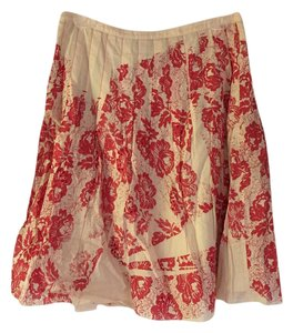 Free People Skirt Off white and Pink
