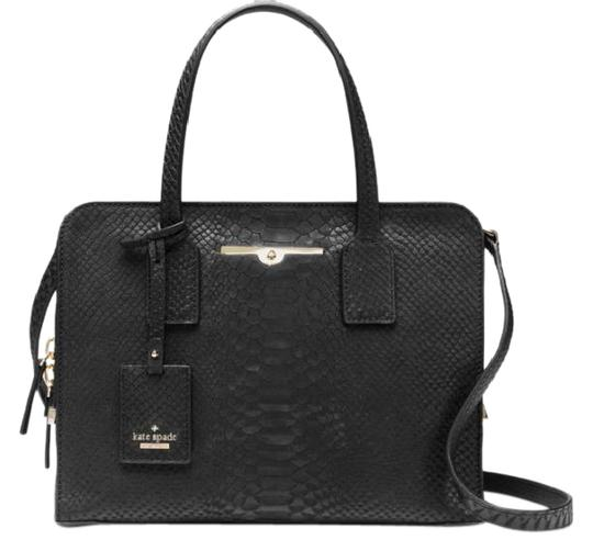 Preload https://img-static.tradesy.com/item/20606179/kate-spade-new-italian-snake-embossed-satchel-black-leather-cross-body-bag-0-1-540-540.jpg