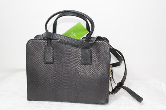 Kate Spade Italian Embossed Snake Work Satchel Cross Body Bag