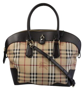 Burberry Pvc Leather Satchel in Haymarket check