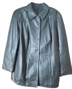 Alfani Button Close 3/4 Length Plus-size Leather Jacket