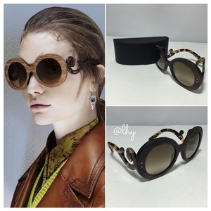Prada PRADA WOOD BAROQUE 55MM SUNGLASSES