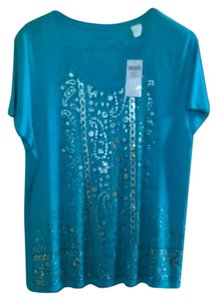 Chico's Top Mexican Turquoise