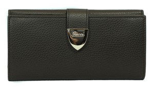 Gucci GUCCI Women's 231837 Leather Wallet Clutch, Brown