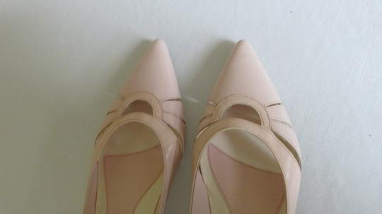 Enzo Angiolini Leather Baby Pink Flats