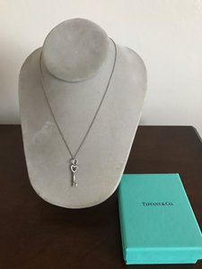Tiffany & Co. Tiffany & Co T&Co Heart Key Pendant Chain Necklace Sterling Silver 925