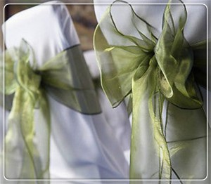 180 Moss/olive Green Chair Sashes