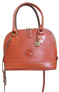 Dooney & Bourke Leather Cross Body Vintage Satchel in Tan