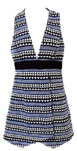 BCBGeneration short dress Academy Blue Combo Sleeveless Geometric Shift on Tradesy