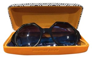 Jonathan Adler Women's Black 'waikiki' 55mm Hexagonal Sunglasses