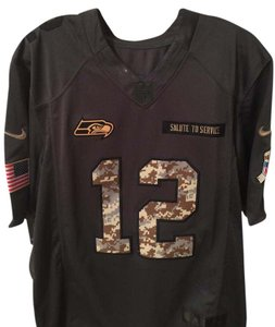 Nike New Mens Nike 12th Fan Seattle Seahawks Salute to Service Jersey-Sz M