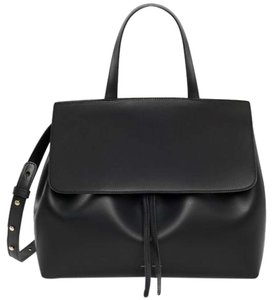 Mansur Gavriel Leather One Satchel in Black