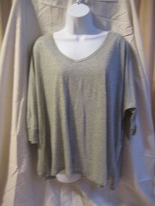 Moda International Victorias Secret Dolman Relaxed T Shirt Grey