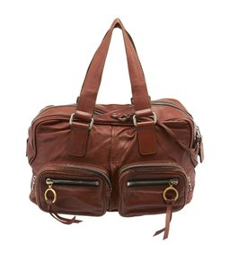 Chloé Leather Tote in Brown