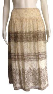 Jones New York Skirt Cream and Brown