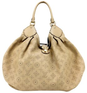 Louis Vuitton Perforated Monogram Leather Push Lock Clasp Hobo Bag