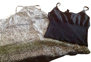The Limited Cami Top Black and animal print