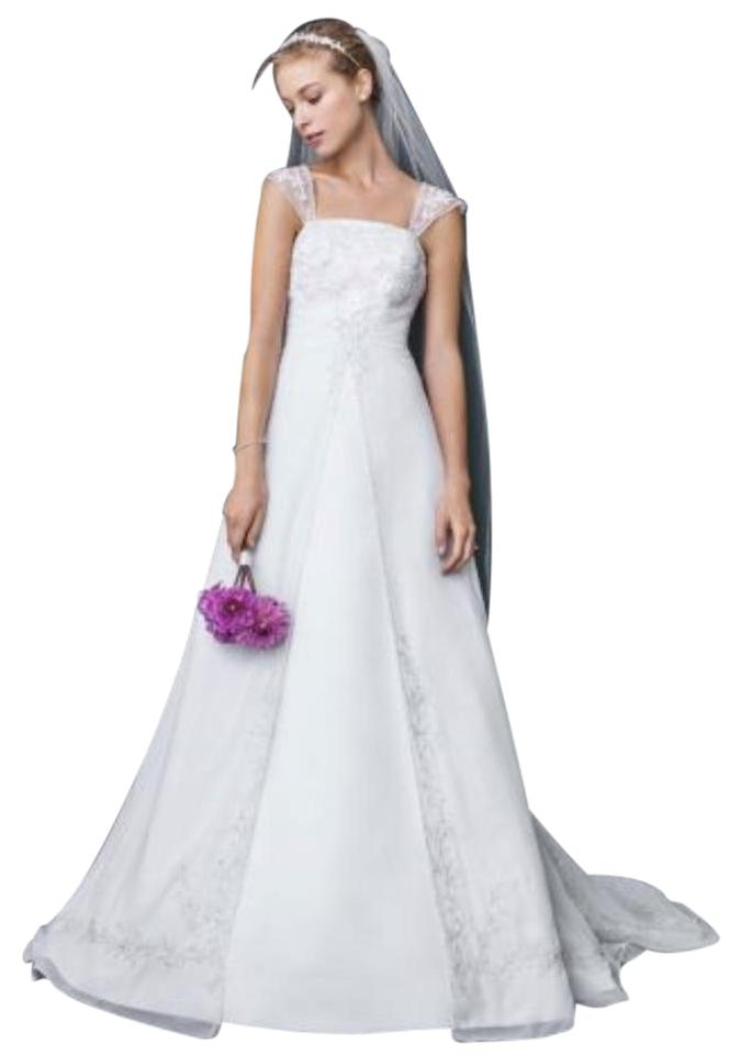 David\'s Bridal White 10041587 Wedding Dress Size 14 (L) - Tradesy