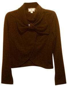 High Street Women Clothing Blouse Dressy Evening Wear Long Sleeves Size L Top Black