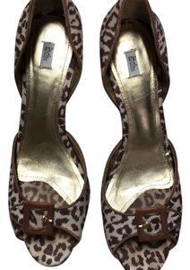 Daslu brown / animal print Pumps