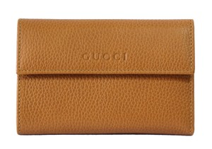 Gucci GUCCI 346057 Leather French Wallet, Saffron
