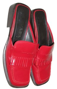 Prada red Mules