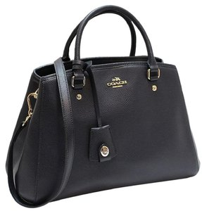 Coach Carryall Paent Leather Emossed Lether 34607 Satchel in Midnight blue Gold tone