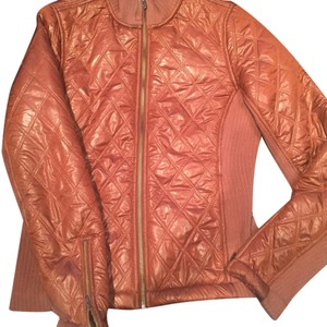 prAna rust Brown Leather Jacket