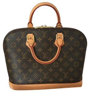 Louis Vuitton Alma Satchel in Brown
