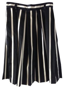 Liz Claiborne Skirt black and white stripes