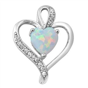 9.2.5 Classic opal heart and white topaz pendant