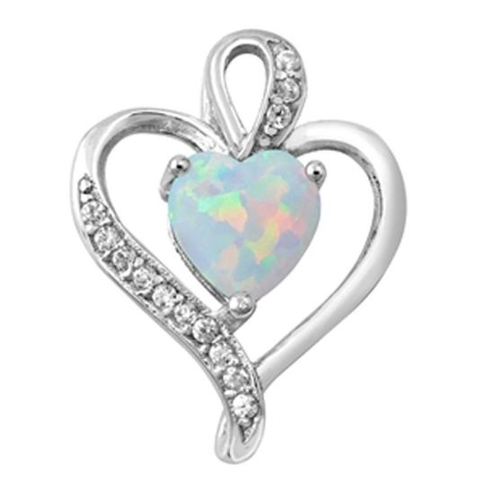Preload https://img-static.tradesy.com/item/20607113/925-opal-classic-heart-and-white-topaz-pendant-charm-0-0-540-540.jpg